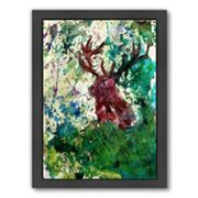 Americanflat Deer Framed Wall Art