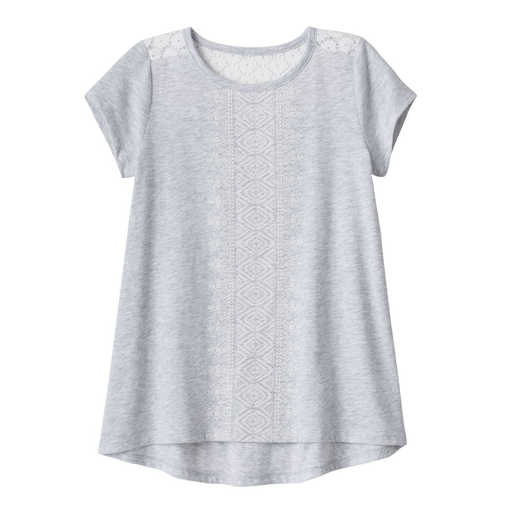 Girls 4-10 Jumping Beans® Back Lace Graphic Tee