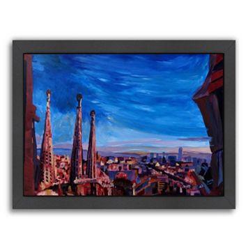 Americanflat Barcelona Sagrada 3 Framed Wall Art