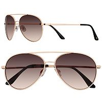 LC Lauren Conrad 58mm Per Se Aviator Gradient Sunglasses