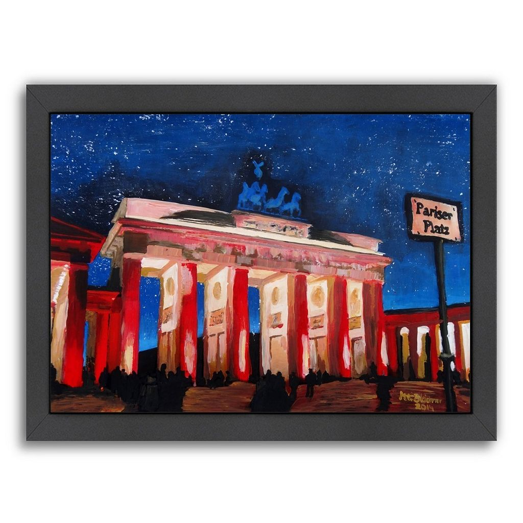Americanflat Berlin 2 Stars Framed Wall Art