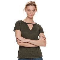 Women's Rock & Republic® Cutout Tee