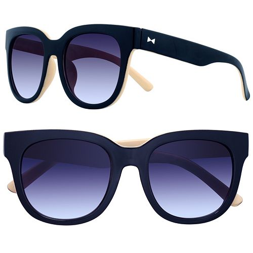 LC Lauren Conrad 51mm Strip Round Gradient Sunglasses