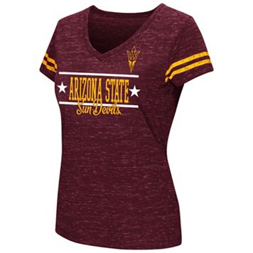 Juniors' Campus Heritage Arizona State Sun Devils Double Stag V-Neck Tee