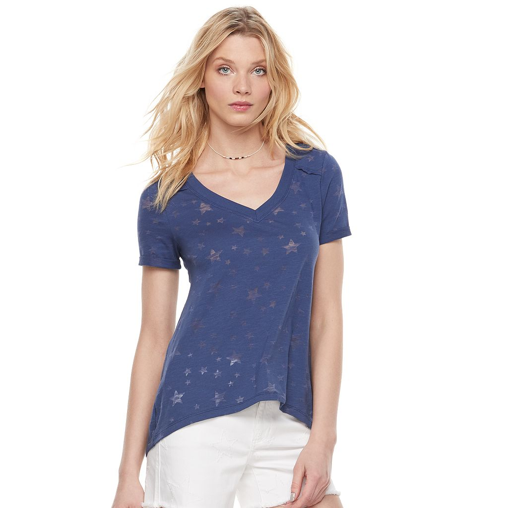Women's Rock & Republic® Burnout Star Tee