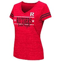 Juniors' Campus Heritage Rutgers Scarlet Knights Double Stag V-Neck Tee