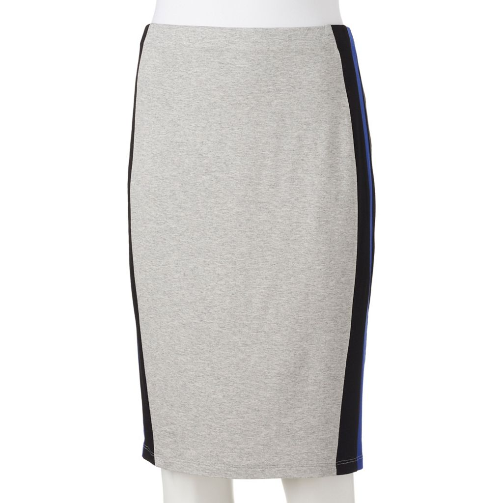Juniors' Joe B Striped Pencil Skirt