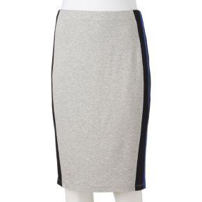 Juniors' Joe B Striped Pencil Skirt