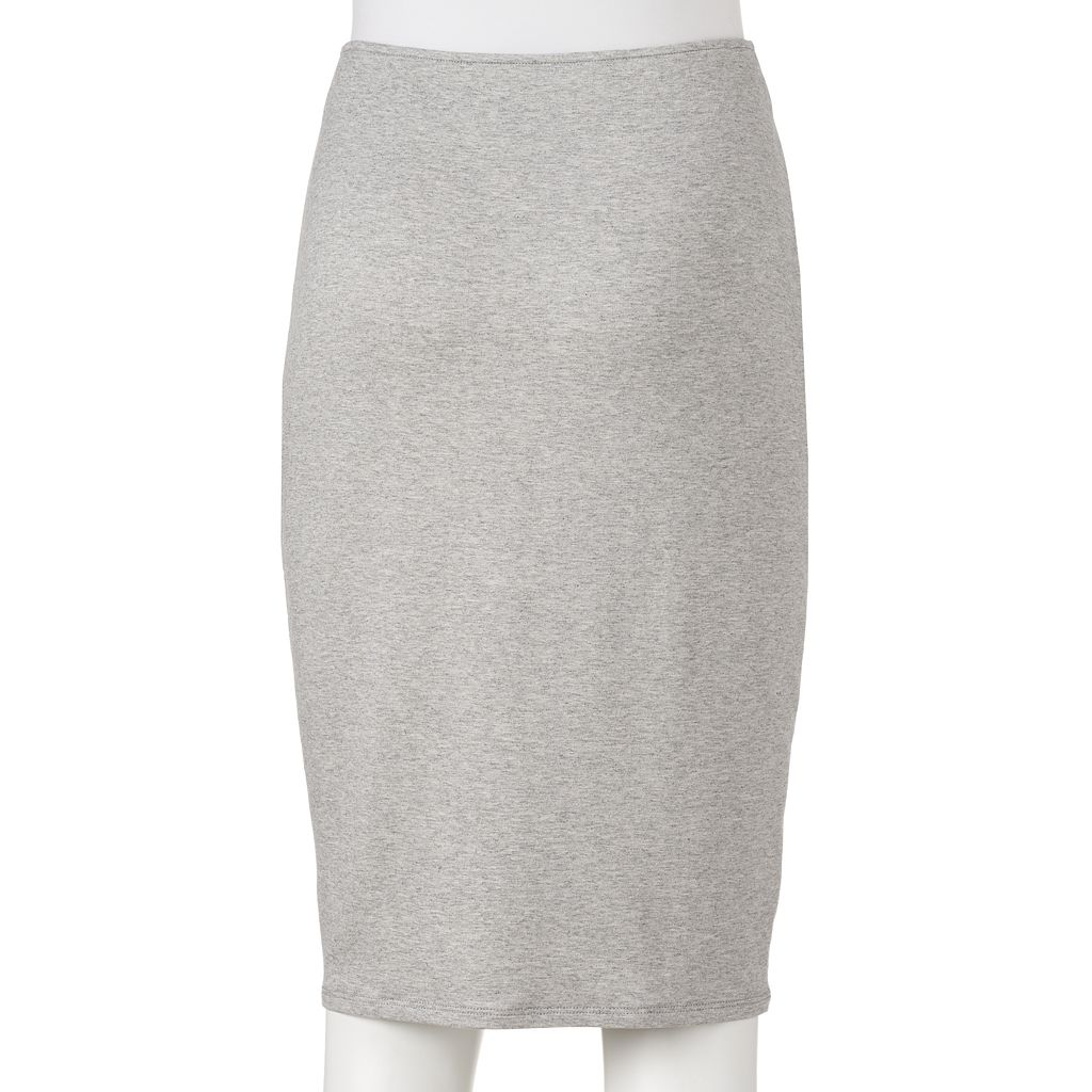 Juniors' Joe B Zip Front Midi Skirt