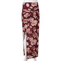 Juniors' Joe B Floral Knot Maxi Skirt