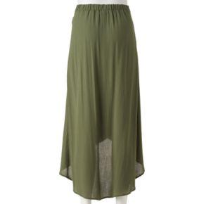 Juniors' Joe B Solid Tie Side Maxi Skirt