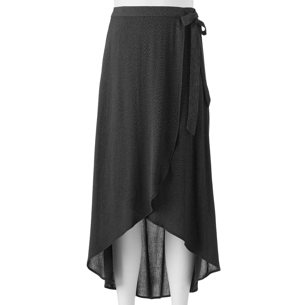 Juniors' Joe B Solid Tie Side Maxi Skirt