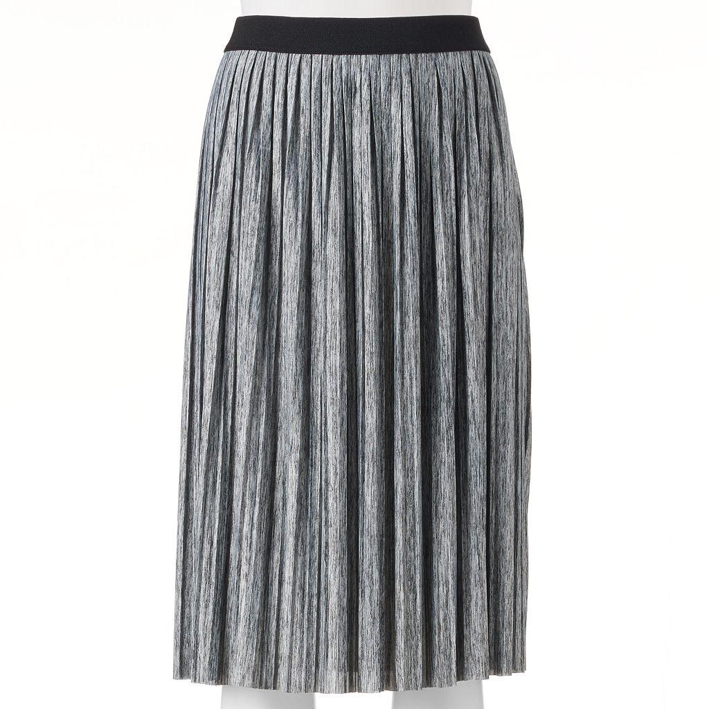 Juniors' Joe B Pleated Midi Skirt