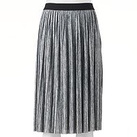 Juniors' Joe B Pleated Midi Skirt