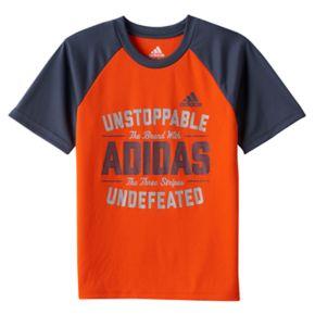 """Boys 4-7x adidas """"Unstoppable"""" climaLite Raglan Tee"""