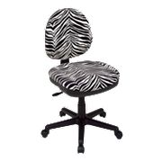 Office Star Products Contemporary Flex Back Swivel Chair - Zebra