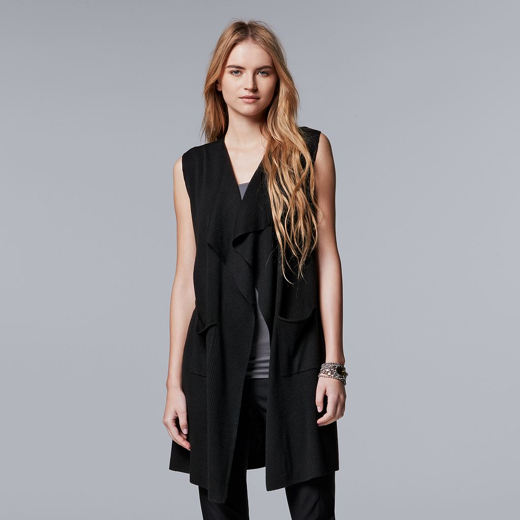 Women's Simply Vera Vera Wang Simply Separates Long Vest