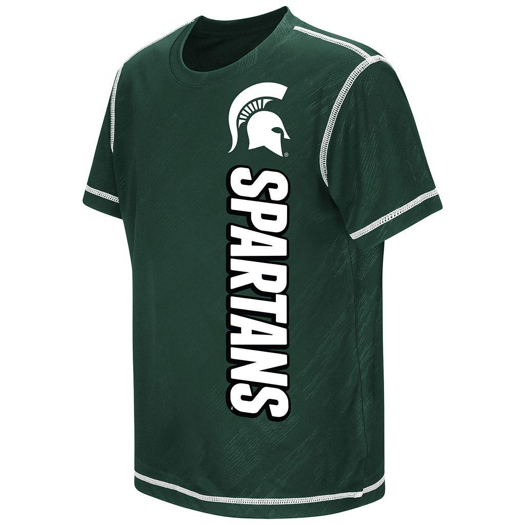 Boys 8-20 Campus Heritage Michigan State Spartans Sleet Tee