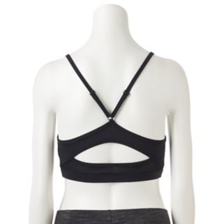 Juniors' SO® Strappy Front Sports Bra