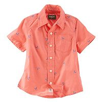 Toddler Boy OshKosh B'gosh® Paddle Print Short Sleeve Poplin Button-Down Shirt