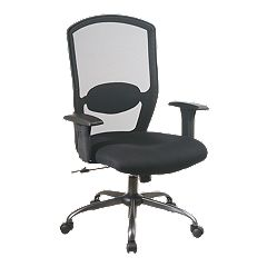 Office Star Products Screen Back Mesh Seat Executive Chair
