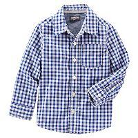 Toddler Boy OshKosh B'gosh® Long Sleeve Plaid Poplin Button-Down Shirt
