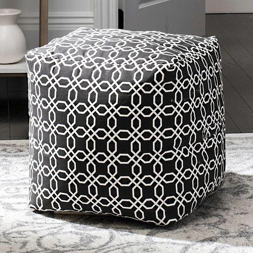 Safavieh Geometric Pouf Ottoman