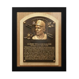 Detroit Tigers Al Kaline Baseball Hall of Fame Framed Plaque Print