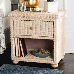 Safavieh 1-Drawer Wicker Nightstand
