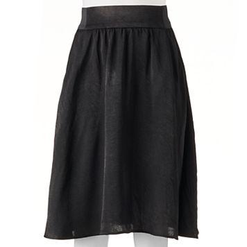 Juniors' Joe B Satin Midi Skirt
