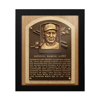 Cleveland Indians Al Lopez Baseball Hall of Fame Framed Plaque Print