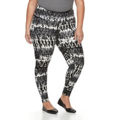 Plus Size French Laundry Printed Body Control Leggings