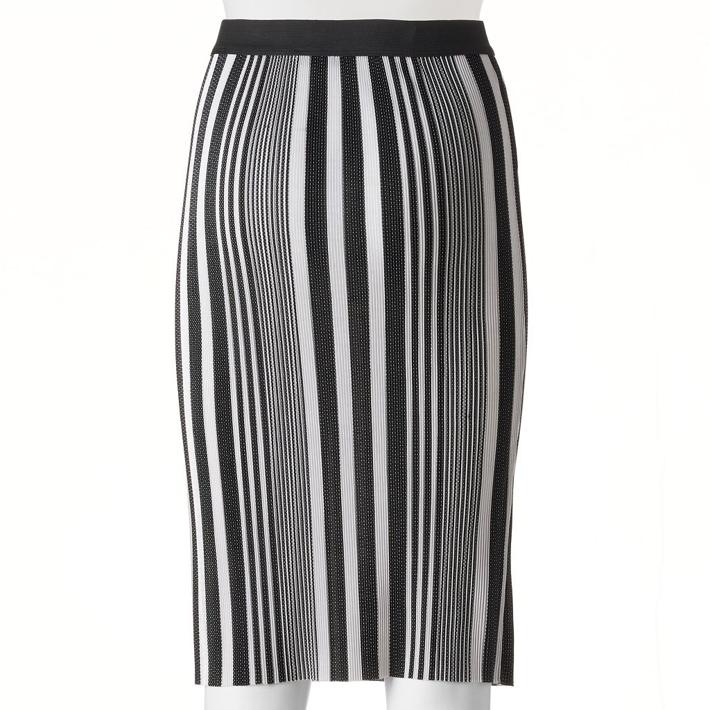 Juniors' Joe B Stripe Midi Pencil Skirt