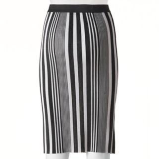 Juniors' Joe B Stripe Midi Pencil Skirt