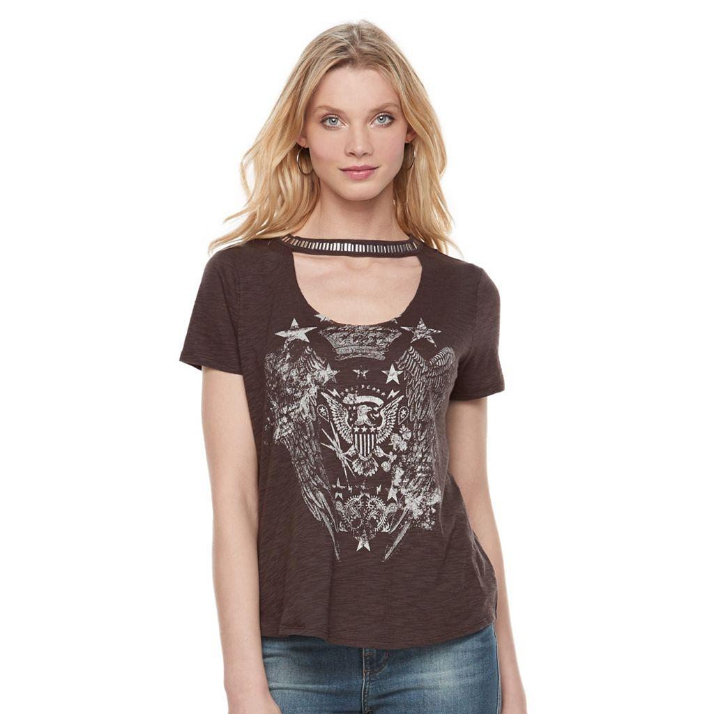Women's Rock & Republic® Choker Graphic Tee