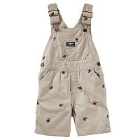 Toddler Boy OshKosh B'gosh® Embroidered Canvas Shortalls