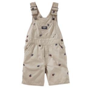 Toddler Boy OshKosh B'gosh® Embroidered Canvas Shortalls