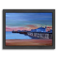 Americanflat Brighton Pier Seaview Sunset Framed Wall Art