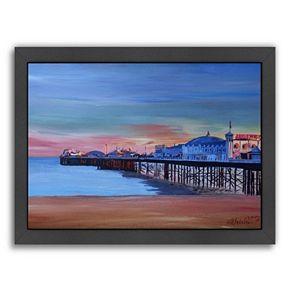 Americanflat Brighton Pier Seaview Sunset Framed Wall Art