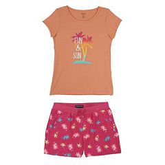 Toddler Girl French Toast 'Fun & Sun' Tee & Shorts Set