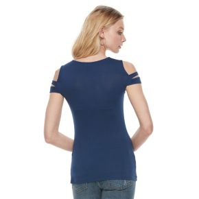 Women's Rock & Republic® Cutout Cold-Shoulder Tee