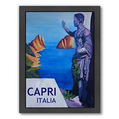 Americanflat 'Capri Italia' Framed Wall Art