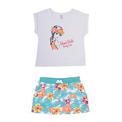 Toddler Girl French Toast 'Island Girls Having Fun' Tee & Shorts Set