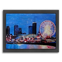 Americanflat Chicago Wheel Framed Wall Art