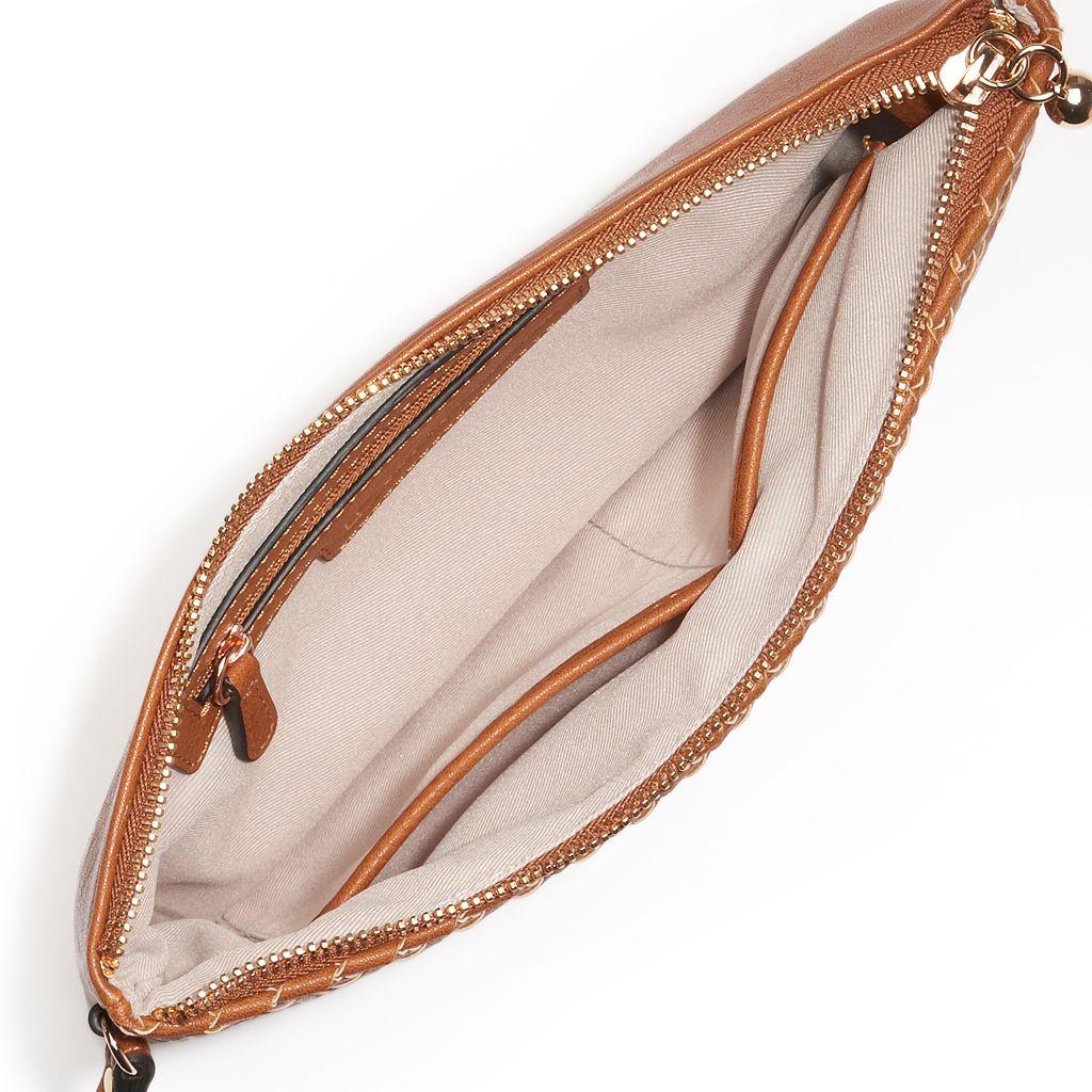 LC Lauren Conrad Daisy Basket Weave Wristlet