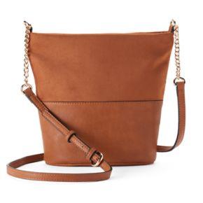 LC Lauren Conrad Daisy Soft Bucket Crossbody Bag