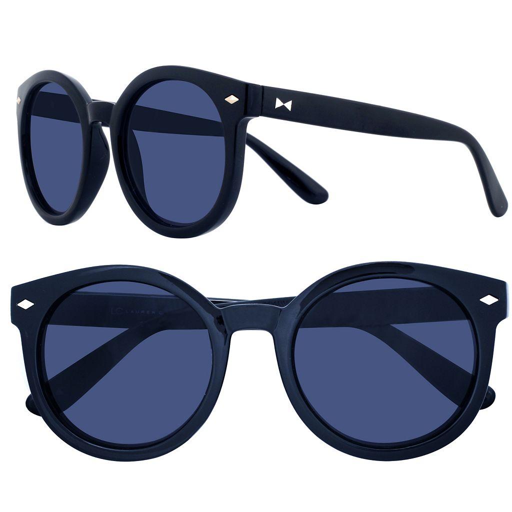 LC Lauren Conrad 50mm Palms Round Sunglasses