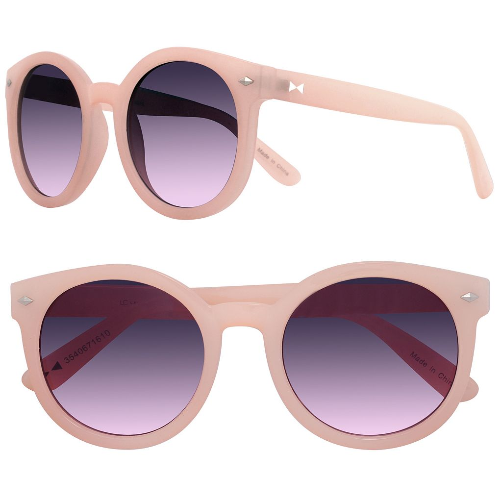 LC Lauren Conrad 50mm Palms Round Sunglasses