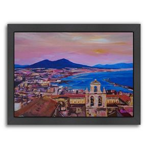 Americanflat City Of Naples Framed Wall Art