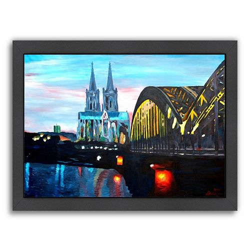 Americanflat Hohenzollern Bridge Framed Wall Art